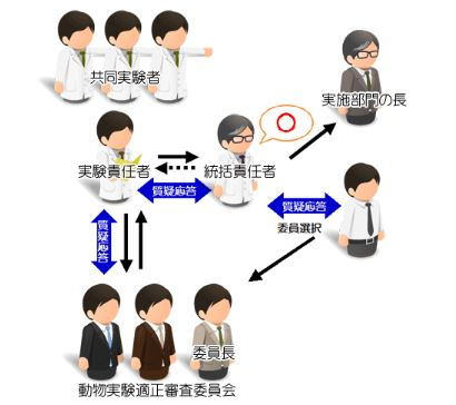 動物実験Web審査管理システムのワークフロー